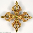 Vishvavajra fire gilt 9,5 cm
