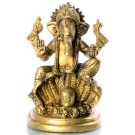 Ganesh with Lingam - 12 cm