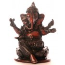 Ganesh Statue 10 cm Resin brown