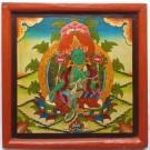 Monastry - Thangka - Green Tara 30 X 30 cm