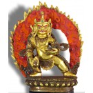Jambhala standing 17cm partly fire gilded
