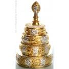 Mandala silver-gold gilt