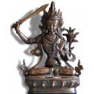Manjushri 21 cm oxidized Buddha Statue