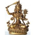 Manjushri 22 cm brass Buddha Statue