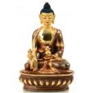 Medicine Buddha 15 cm partly gilt Buddha Statue