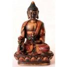 Medicine Buddha Statue 9 cm Resin coloured