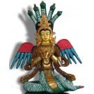 Naga Kanya 23 cm partly fire gilded