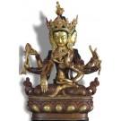 Vijaya - Unshinisvijaya - Namgyelma 24 cm partly gold plated 2