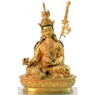 Padmasambhava  23 cm fully fire-gilded Buddha Statue