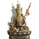 Padmasambhava  22 cm partly fire-gilded