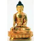Ratnasambhava 20 cm fully goldplated Buddha Statue