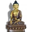 Ratnasambhava 20 cm partly fire gilded Buddha Statue