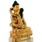 Samantabhadra  20 cm fully gilted Buddha Statue