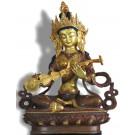 Saraswati 21 cm partly fire-gilded Buddha Statue