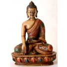 Akshobhya 13,5 cm Buddha Statue Resin painted