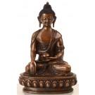 Akshobhya  15 cm oxidized Buddha Statue