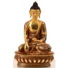 Akshobhya 15 cm partly fire gilded Buddha Statue