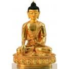 Akshobhya 20 cm fully fire gilded Buddha Statue