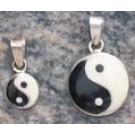 Silver Pendant Yin and Yang