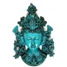 Tara Mask 21 cm Resin turquoise