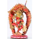 Vajravarahi red  20 cm partly fire-gilded