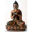 Vairocana Buddha Statue 13,5 cm Resin coloured