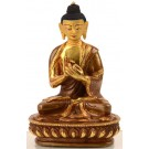 Vairocana 15 cm partly gold plated Buddha Statue