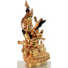 Vajradhara-Prajnaparimita  22 cm fully firegilt Buddha Statue