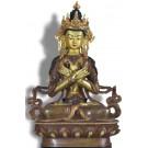 Vajradhara 21,5 cm partly gilt Buddha Statue