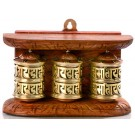 Wall Prayer wheel 3-wheeler  15 cm long