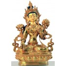White Tara 22 cm full gold fire-gilded
