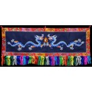 Wall hanging - double Dragons 115 cm x 31 cm