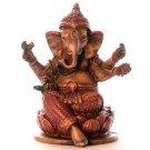 Ganesh Statue 10 cm Resin coloured