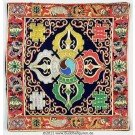 Buddhist Altar Puja Table Cloth - 21cm x 21 cm