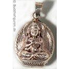 Silver Pendant Amoghasiddhi 28 mm