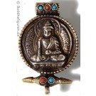 Pendant Shakyamuni Ghau medallion