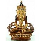 Aparimita / Amitayus 14 cm partly gilt Buddha Statue