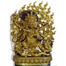 Mahakala black 31 cm fully gilt - Replica Buddha