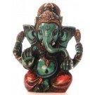 Ganesh Statue 8 cm Resin turquoise