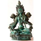 Green Tara Statue 20 cm Resin turquoise