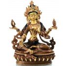 Lakshmi - Laxmi  Statue 16 cm partly gold plated