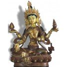 Lakshmi - Laxmi 21,5 cm partly gold plated