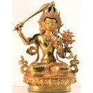Manjushri 21 cm fully gold-plated Buddha Statue