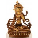 Saraswati 15,5 cm partly fire-gilded (gold plated)