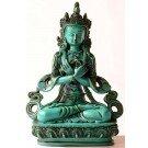 Vajradhara 20 cm Buddha Statue Resin turquoise