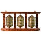 Wall Prayer wheel 3 wheeler - 20 cm high / 45 cm long