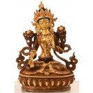 White Tara 16 cm partly fire-gilded Buddha Statue