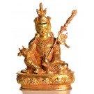 Padmasambhava 12 cm fully fire-gilded Buddha Statue