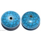 Resin Beads Turquoise 25mm 2pc.