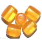 Resin Beads yellow 14mm 8pc